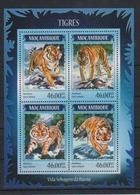 D349. Mozambique - MNH - 2014 - Nature - Animals - Tigers - Plants