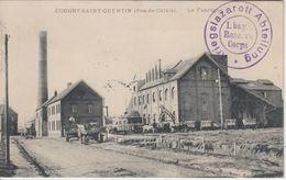 Frankreich - Écourt-Saint-Quentin Fabrikgebäude Feldpostkarte Lazarett 1915 - Francia