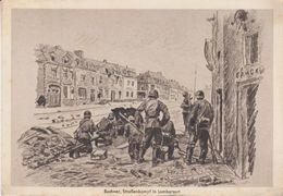Frankreich - Straßenkampf Künstlerkarte Soldatenkalender 1941 Feldpost München - Duitsland