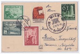 Dt,- Reich (004700) AK Wien Mit Vignette Zur Wiener Messe 1939 Und SST Wiener Herbstmesse Vom 22.10.1939 - Germany