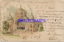 129710 FRANCE ART PALACE OF MINES AND METALLURGY CIRCULATED TO GERMANY POSTAL POSTCARD - Francia