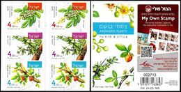 ISRAEL 2017 - Aromatic Plants - Frankincense; Myrrh & Balsam - Booklet Of 6 Self-adhesiuve Stamps - MNH - Pflanzen Und Botanik