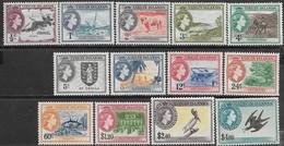 Virgin Islands 1956   Sc#115-27  Set  Of 13  MLH   2018 Scott Value $98.85 - British Virgin Islands