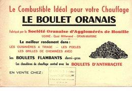 Buvard Le BOULER ORANAIS Oran Algérie Combustible Pour Chauffage - Hydrocarbures