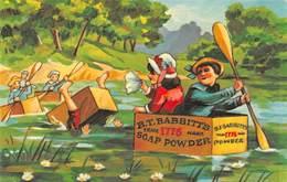 BABBITT'S SOAP POWDER REPRO ADVERTISING POSTCARD #20223 - Werbepostkarten