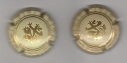 Capsule Champagne Union De Saint Gall N° 5 Et 6 Dessin Or, Créme (et Créme Foncé) - Champagne