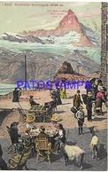 129717 SWITZERLAND GORNERGRAT ZERMATT KULM HOTEL & MOUNTAIN  POSTAL POSTCARD - Svizzera