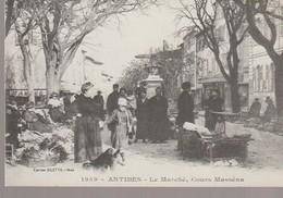 C. P. - ANTIBES - LE MARCHE - COURS MASSENA - 19 - LA COTE D'AZUR A LA BELLE EPOQUE - REPRODUCTION - GILLETTA - Antibes - Vieille Ville
