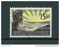 1957 Netherlands Antilles Mental Health MNH,Postfris,Neuf Sans Charniere - Curaçao, Nederlandse Antillen, Aruba