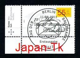 GERMANY Mi.Nr. 2882 Tag Der Briefmarke - ESST Berlin - Eckrand Unten Links - Used - BRD