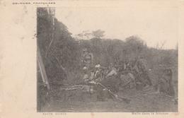 KOUROUSSA   HAUTE  GUINEE FRANCAISE   Halte Dans La Brousse   TB PLAN 1905 PAS COURANT - Guinée Française