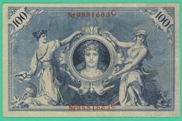 100 Mark - Allemagne - 1908 - N° 9881663C - TTB - - 100 Mark