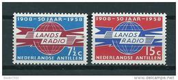 1958 Netherlands Antilles Complete Set 50 Jaar Landsradio MNH/Postfris/Neuf Sans Charniere - Curaçao, Nederlandse Antillen, Aruba