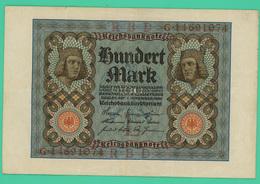 100 Mark - Allemagne - 1/11/1920 - N° G14691074 - TTB - - [ 3] 1918-1933 : República De Weimar