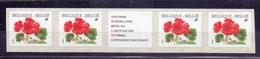 Belgie - 1999 - OBP - ** 2854 -  Rolzegel 91 - Strook Van 4 - Geranium -  Bloemen -  Andre Buzin - Coil Stamps