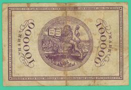100 000 Mark - Allemagne - 1/08/1923 - N° C19748 - TB +  - - [ 3] 1918-1933 : República De Weimar