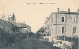 CORCELLES - LA MAIRIE ET LA GRANDE RUE - France