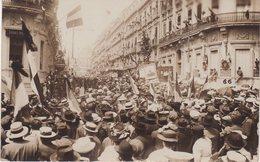 MONTPELLIER : Meeting Viticole Du 9 Juin 1907 . CP PHOTO . Manisfestants Dans Une Rue . - Montpellier
