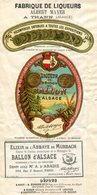 68.HAUT RHIN.THANN.PUB AVEC ETIQUETTE.FABRIQUE DE LIQUEURS ALBERT MAYER LIQUEUR DU BALLON D'ALSACE.(P.J) - Unclassified