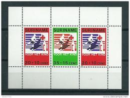 1979 Suriname Complete M/Sheet Child Welfare,red Cross,rotes Kreuz MNH,Postfris,Neuf Sans Charniere - Suriname