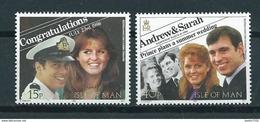 1986 Isle Of Man Complete Set Royal Wedding MNH/Postfris/Neuf Sans Charniere - Isla De Man