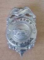 Etats-Unis / USA - Badge De Pompier De L'armée - U.S. ARMY FIRE DEPT. - Métal Argenté - Pompiers