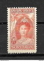 1923 Suriname Queen Wilhelmina 50 Cent MNH/Postfris/Neuf Sans Charniere - Surinam ... - 1975