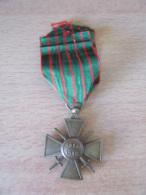 France - Guerre 14-18 - Médaille Croix De Guerre 1914 - 1918 Avec Ruban - 1914-18