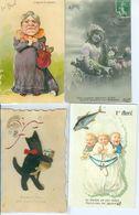 Lot De 210 CPA, Thème 1er Avril - Postcards