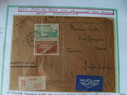 N° 262 !!B - Sur Lettre C.à Date 19/10/36 De Vannes Pour Hanoî (Indochine) + N° 301 - Francia