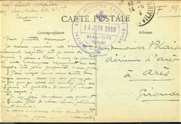 "Rare Cachet ""hôpital Auxre Bénévole Laurent Barrault PARAME 1918"" Cp Paramé - WW I"