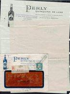 """Fr - 1929 """"Perly Quinquina Bordeaux"""" Pasteur 1,50 F Sur Enveloppe Publicitaire Recommandée De Sète - Refusée, Retour - - 1921-1960: Modern Period"""