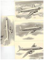 D C-3   DC-6   DC-7   DC-8    4 Postkaarten - 1946-....: Ere Moderne