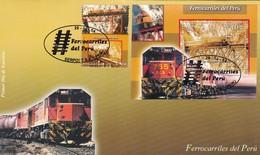 FERROCARRILES DEL PERU, RAILWAY CHEMIN DE FER. PERU AÑO 1994 FDC -LILHU - Peru