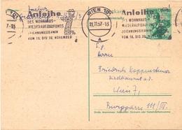 WIEN OSTERREICH STATIONERY 1957 SPECIAL POSTMARK   (FEB20996) - Entiers Postaux