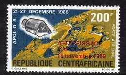 Centrafricaine P. A.  N° 83 XX  Apollo XII, Timbre Surchargé Sans Charnière, TB - Centrafricaine (République)
