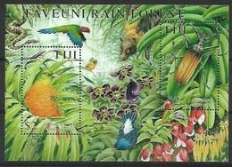 FIJI 2001  BIRDS, BUTTERFLIES, MNH , Orange Dove - Palomas, Tórtolas