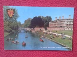 POSTAL POST CARD REINO UNIDO UNITED KINGDOM LONDON THE BLACKS AND CLARE COLLEGE CAMBRIDGE UK BARCAS SHIP BOAT...VER FOTO - Reino Unido