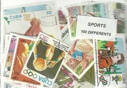 """Lot De 100 Timbres Thematique """" Sport"""" - Timbres"""