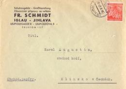 CECOSLOVACCHIA Jihlava IGLAU 1942COVER  SPECIAL POSTMARK   (FEB20997) - Cecoslovacchia