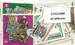 """Lot De 50 Timbres Thematique """" Cyclisme """" - Wielrennen"""