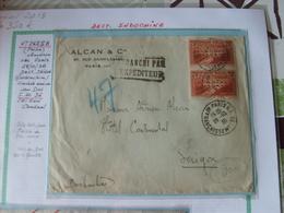 N° 262 !!B En Paire  Sur Lettre  ! Obl CaD Le 28/10/36 De Paris  Pour Saigon (Cochinchine ) - Francia