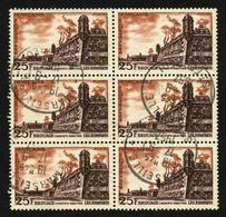 FRANCE - YT 1042 - BLOC DE 6 TIMBRES OBLITERES - Used Stamps