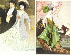 Illustrations - Lot De 8 Belles Reproductions (Collection Des Cent, Montedoro, Cardona...) Cartes Neudin - Illustratori & Fotografie