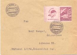 CECOSLOVACCHIA PRAHA 1947 COVER  SPECIAL POSTMARK   (FEB20998) - Esposizioni Filateliche