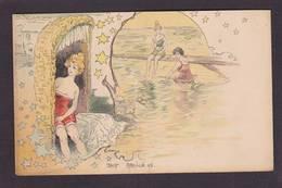CPA Abeillé Femme Girl Women Art Nouveau Baigneuse Non Circulé 1898 - Illustratori & Fotografie