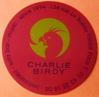 AUTOCOLLANT STICKER - RESTAURANT BAR CHARLIE BIRD - PARIS - Autocollants