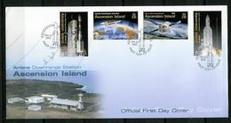 Ascension FDC 2003 Y&T N°819 à 822 - Michel N°895 à 898 - Programme Ariane - Ascension (Ile De L')