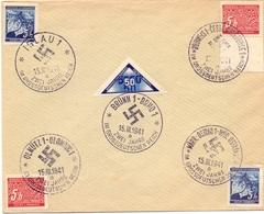 CECOSLOVACCHIA ( CECHY MORAVA) IGLAU 1941  COVER  SPECIAL POSTMARK   (FEB201000) - Esposizioni Filateliche