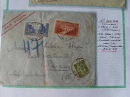 N° 262 !!B +261 Sur Lettre  ! Obl CaD Le 21/01/37 De Paris  Pour Saigon (Cochinchine ) - Francia